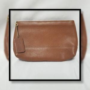 Vintage Coach Leather Make-up Bag